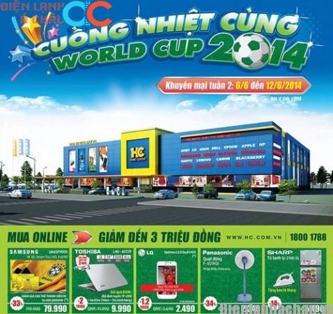 HC tưng bừng khuyến mãi hàng điện lạnh chào World Cup